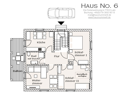 Ferienwohnung Lahr Grundriss von Haus No. 6